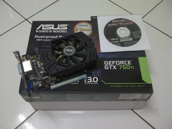 Asus GTX750Ti 2Gb Single fan