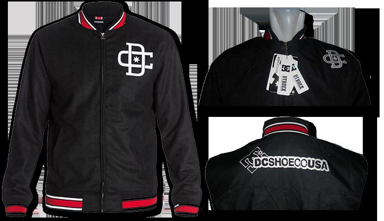 Jaket Baseball DC Rob Dyrdek Hitam, Harga Promo, Stock Terbatas!