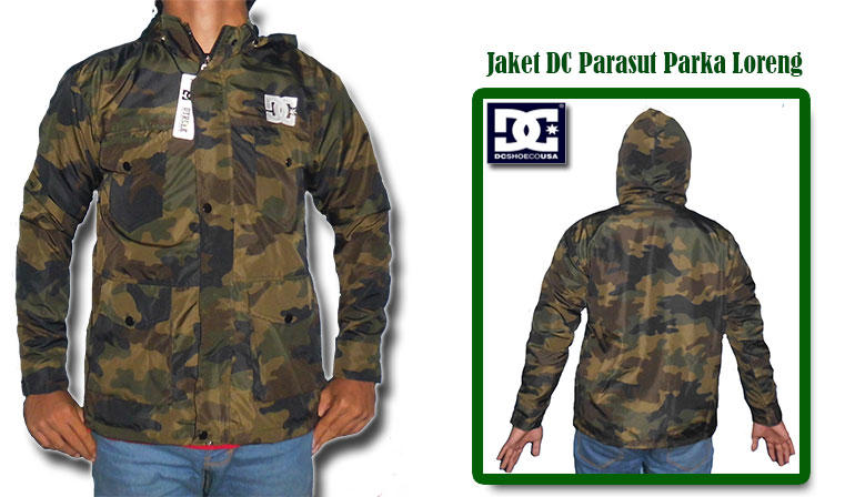 Jaket DC Parasut Parka Loreng, Harga Hanya Rp 110.000