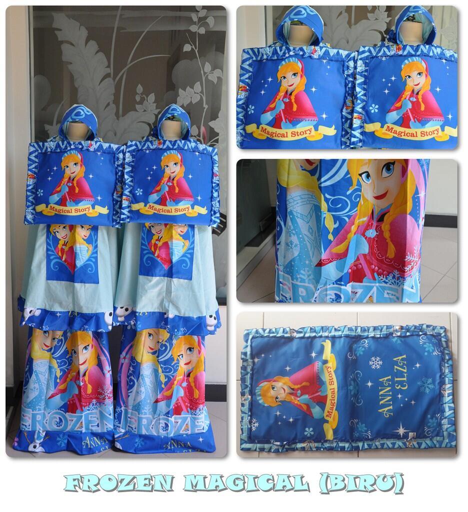 Mukena Anak Frozen Biru Magical