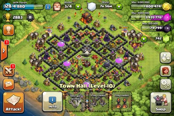 Special ID Clash Of Clans Level 128 Up with Rare items