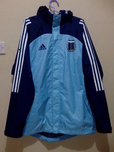Jaket Adidas Training Waterproof Timnas Argentina Original