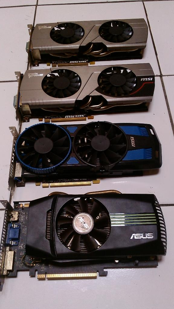 ASUS GTS450, MSI R6870, MSI R7770