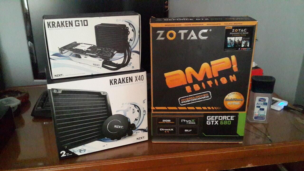 Zotac Geforce GTX 680 AMP! Edition + Kraken X40 + G10