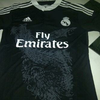 #ReadyStock jersey real madrid 3rd motif naga size s m l xl