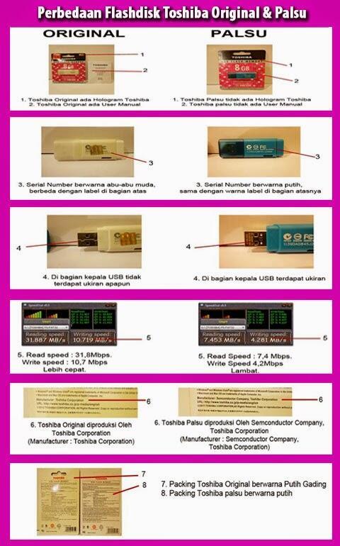 Perbedaan Flashdisk Toshiba Original dan Palsu