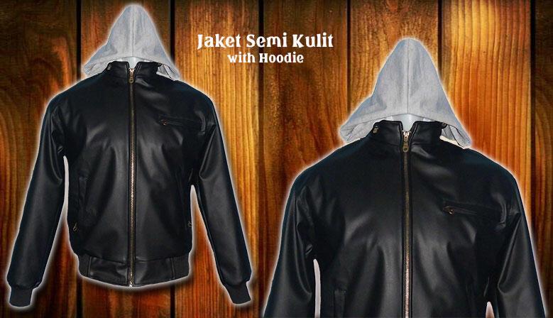 Terjual Jaket Semi Kulit with Hoodie  4a58dc6025