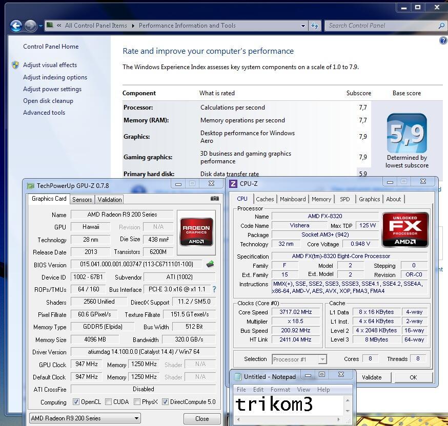 VGA MONSTER -- R9 290 (4GB DDR5 512 BIT) GARANSI PANJANG.....