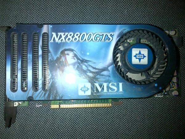 JUAL VGA MSI NX8800GTS-12D320E-HD-OC / 320Mb 320Bit DDR3