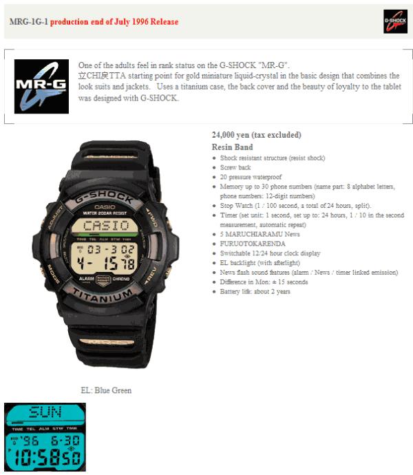 ♠♠♠ Jam Casio G-Shock MRG-1 Titanium Original ♠♠♠