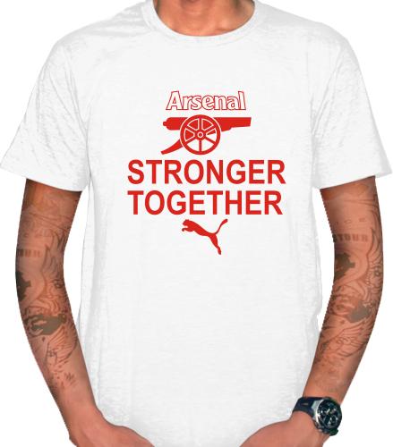 KAOS - T SHIRT ARESNAl STRONGER TOGETHER