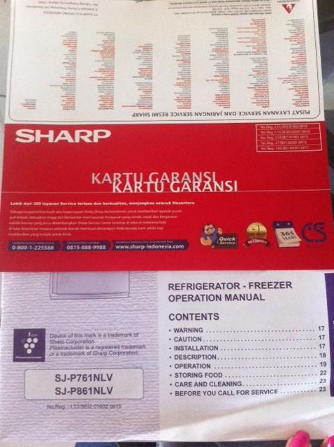 [JUAL CEPAT] Kulkas SHARP (two doors) uk.174x82x68 cm