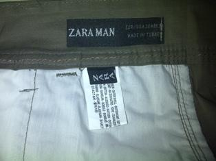 chinos zara man (made in turkey)