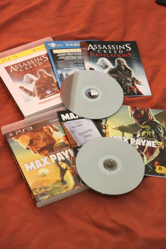 Jual BD PS3 Skyrim, Remember Me, Assassin's Creed 3 & Revelation, Red Dead dll