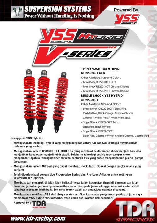 Shock YSS Hybrid V-Series Chrome 300mm matic