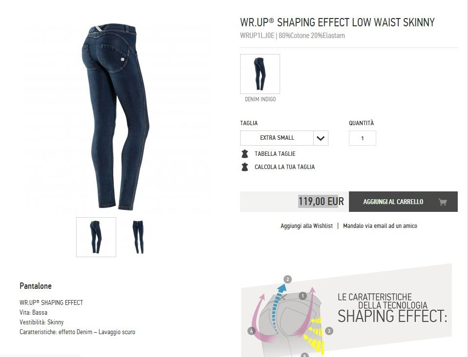 terbaru..celana jegging premium original merk FREDDY WR.UP shaping effect skinny