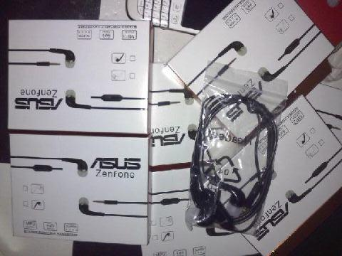 [ZENAUDIO] READY STOCK Headset / Earphone Asus Zenfone + Mic, Black Termurah