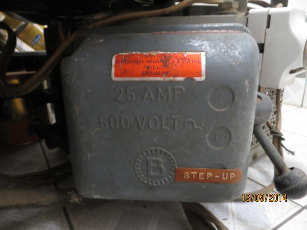 Slide Regulator 500V 25A (12500VA), 4 fase, Made in Germany