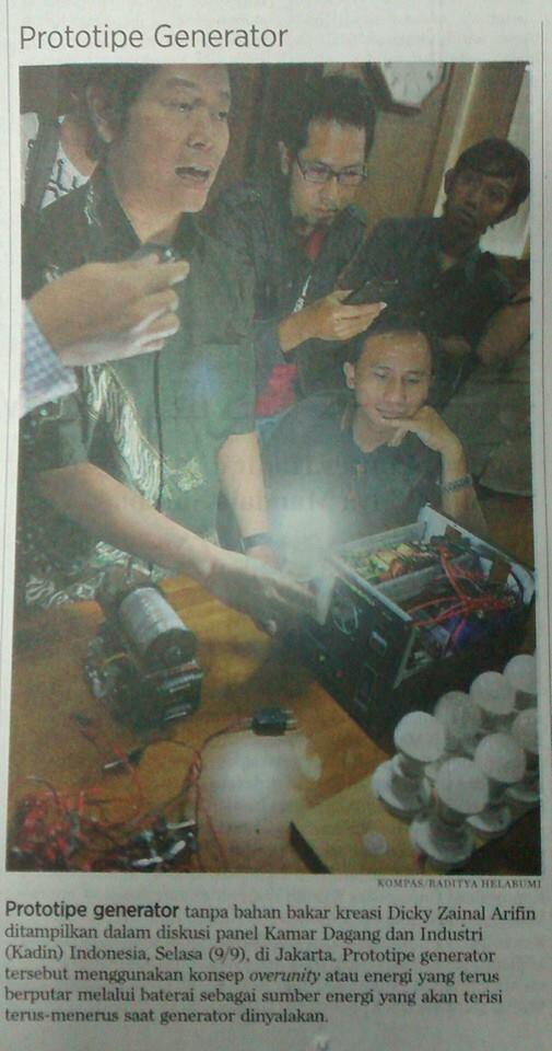 Generator Listrik tanpa BBM, Teknologi Lemurian Karya Guru Silat Hikmatul Iman