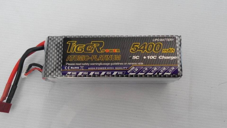 Jual Baterai Lipo Tiger 5 sel 5400mah 30C