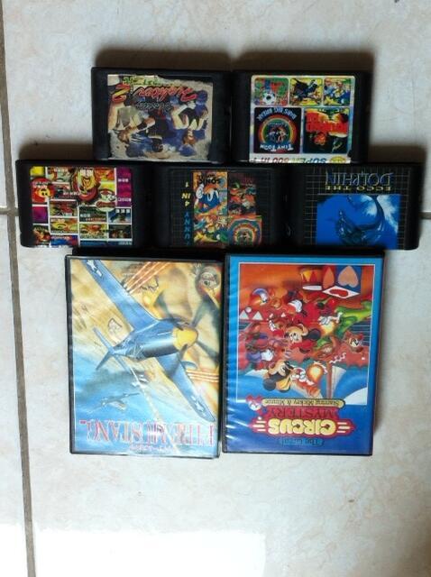 SEGA Mega Drive Games / Cartridge / Kaset Original & Fake Loose