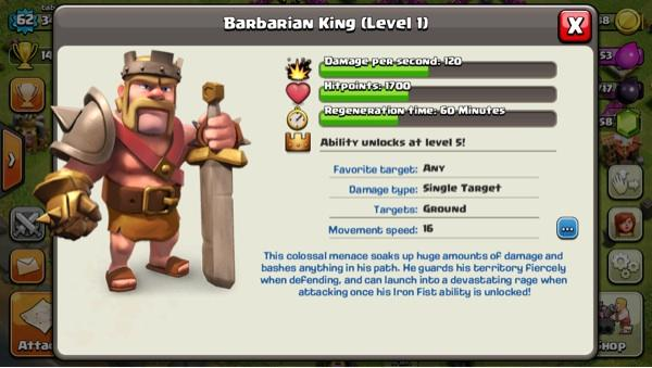 id clash of clan coc lvl 62 , builder 4 trophy 1600