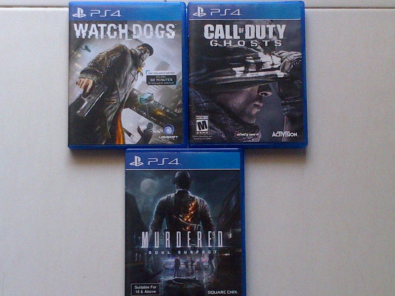WTS BD ORI 2nd PS4 Watch Dogs, COD Ghosts & Murdered - jogja
