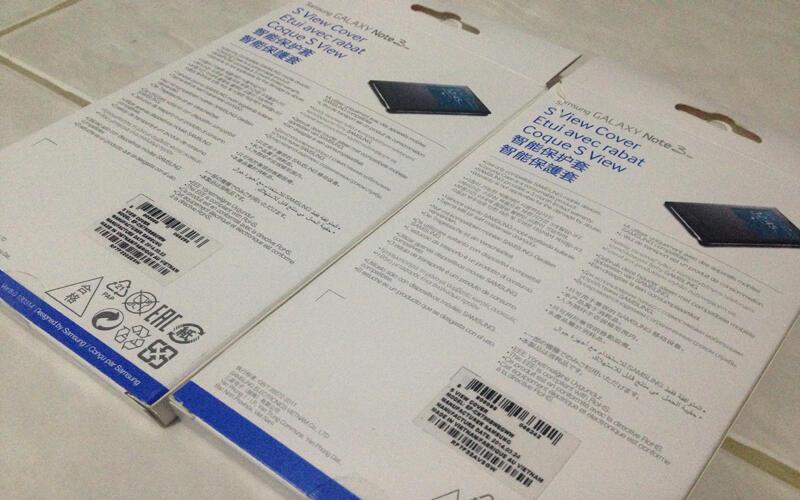 Ready Stock S View Cover Galaxy Note 3 Neo Black & White Original 1000%