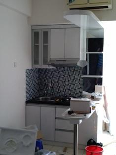 Terjual paket furniture interior apartemen kitchen set for Paket kitchen set murah