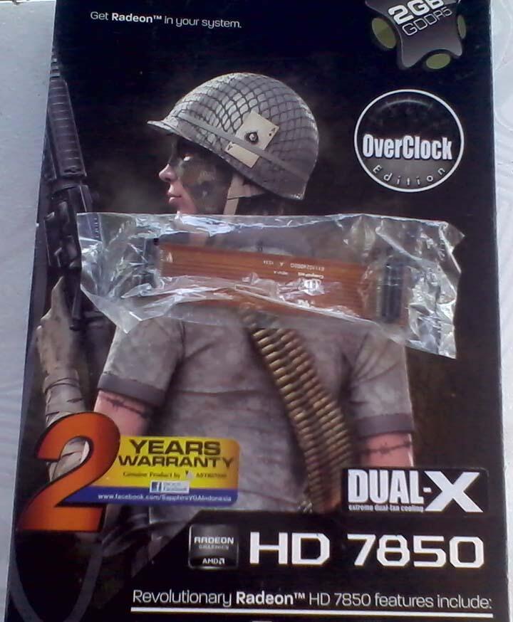 (WTS) VGA SAPPHIRE HD7850 2GB DDR5 DUAL-X OC EDITION - SOLO