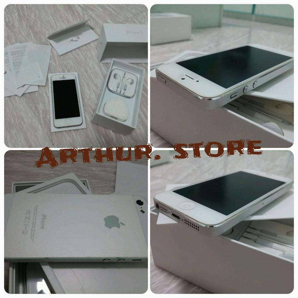 iphone 5 16gb white bekas... FU Fullset.. Mulus.. :) cheap.. Monggoo.. :) Cod