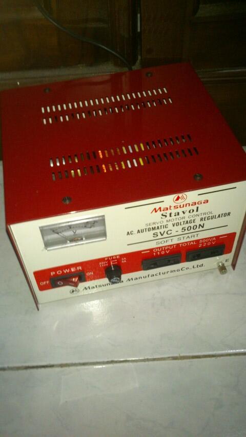 WTS Stavol step up/down 110v-220v Merk Matsunaga original product