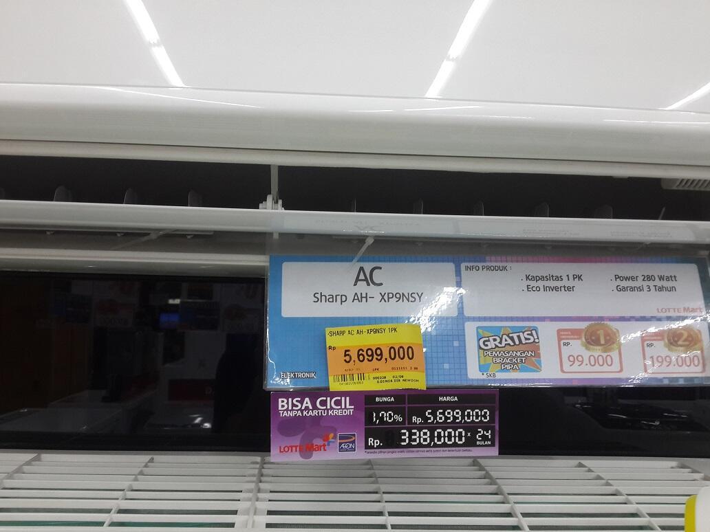 WTS > AC Inverter Sharp 1PK AU-X9NSY MURAH DISKON 2JT BURUAN!!