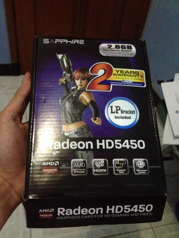 Jual Sapphire Radeon HD 5450 1 GB DDR3 , Second kondisi 99%