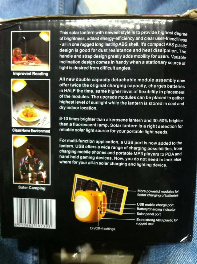 Solar Lantern PACO SL-H204 bersertifikat ISO 9001 , lampu solar cell berkualitas