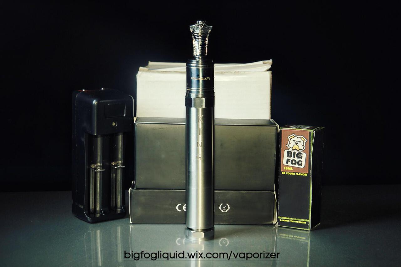 Jual vaporizer/king/mod/quasar/rda/driptip/king/cobra/battery/18650/eliquid/bigfog