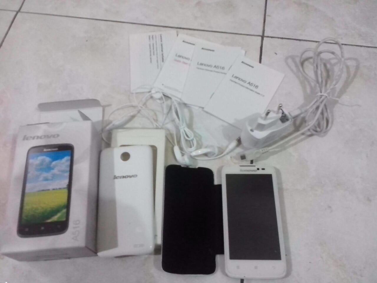 LENOVO A516 Full Set + Flip Case + Anti Gores Bandung
