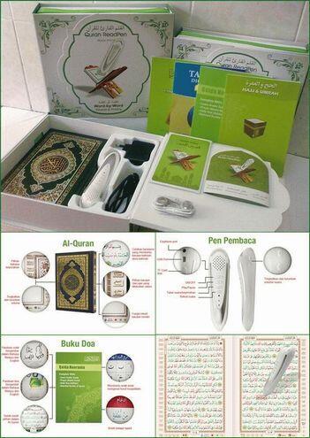 Digital Pen Al Qur An ( quran ) PQ15 ( membaca otomatis kata per kata )