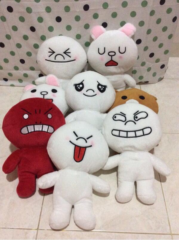Terjual Jual boneka karakter line (cony 90bb5c5512