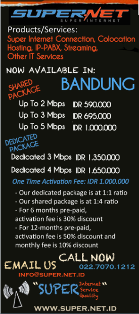 Fastest Internet tercepat Provider ISP in Bandung