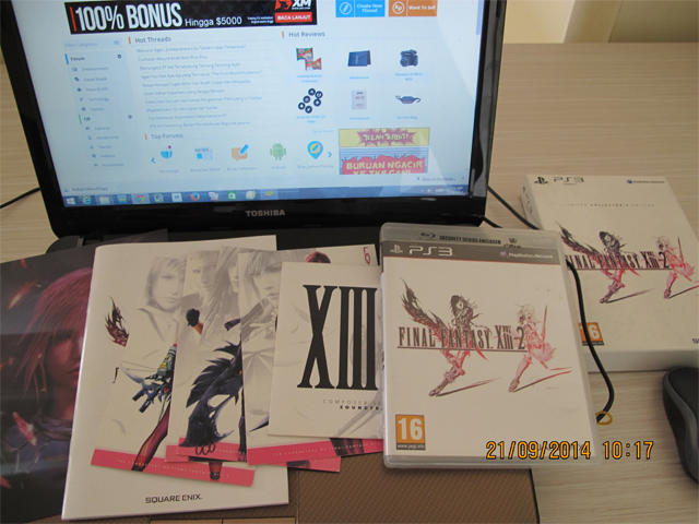 (jual) Rare BD Final Fantasy XIII-2 Limited Collector Edition