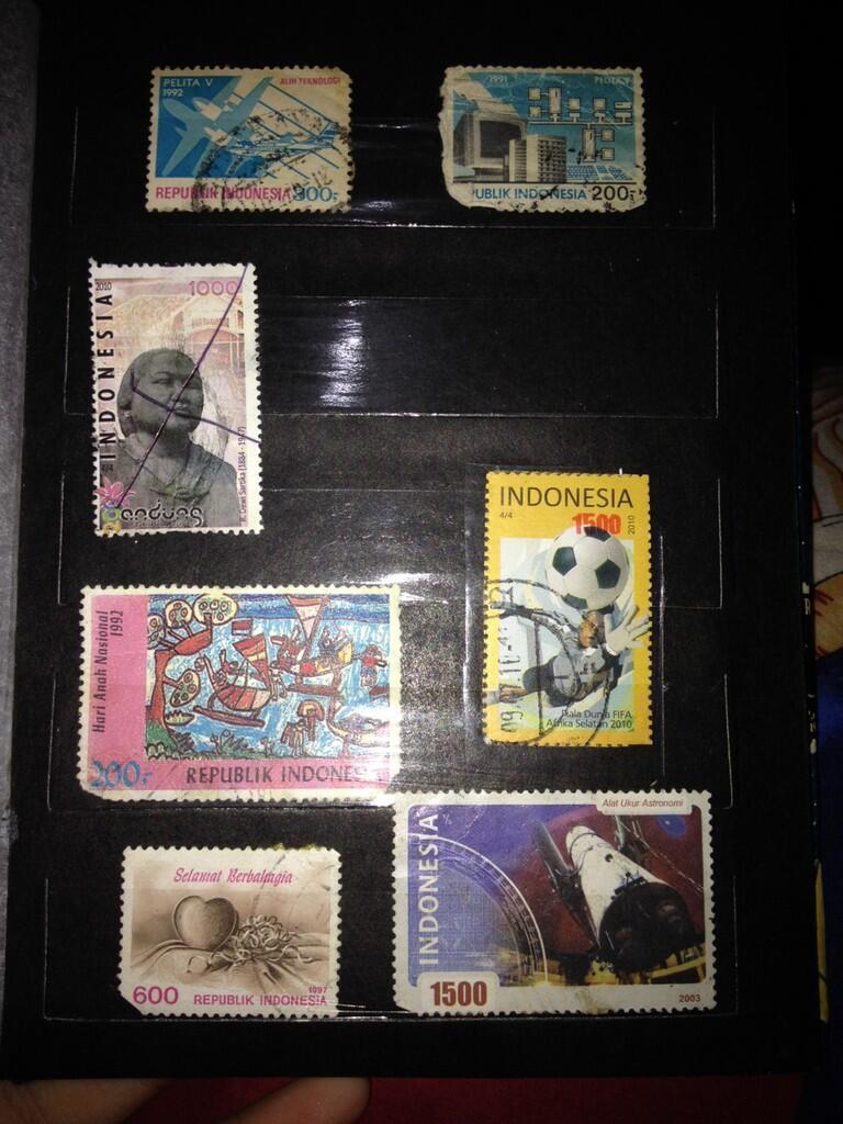 album perangko koleksi pribadi murah bisa nego