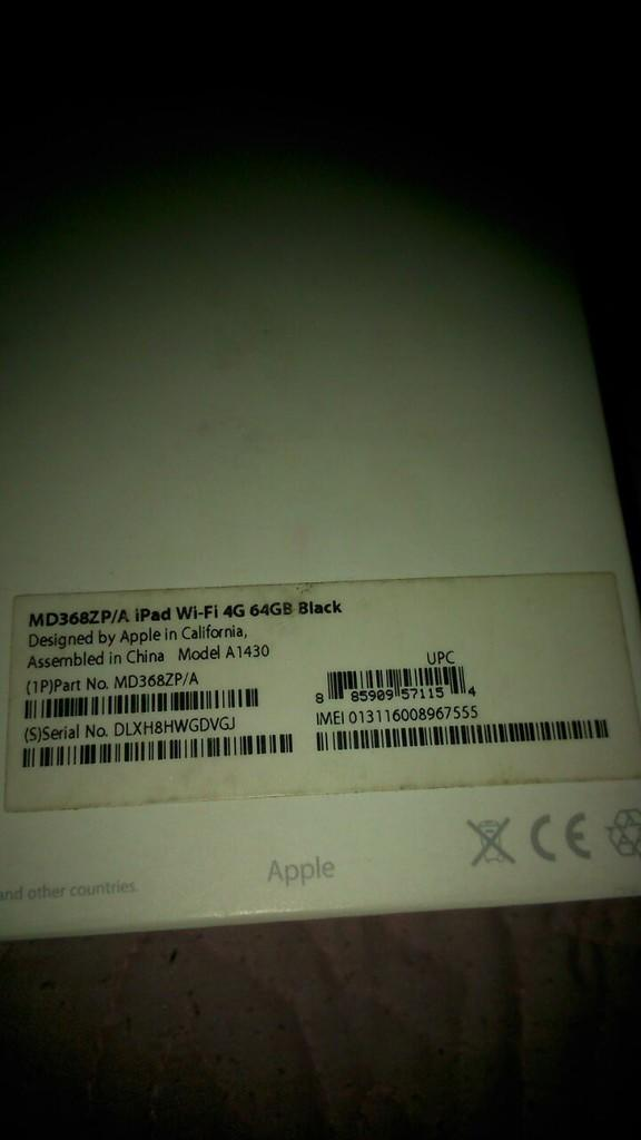Ipad 3 64gb Cellular 3g / 4g + Wifi Black Lengkap Mulus Ada Bonusnya