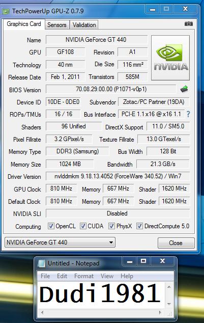 Vga Zotac Gt 440 Synergi Edition 1gb Ddr3 128bit Batang ( Bandung )