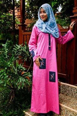 Terjual Baju Gamis Nibras Cantik Dan Unik Muslimah Ayoo Masuk
