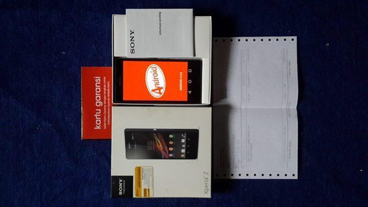 WTS: sony Xperia Z (C6602;black) fullset BOGOR ; murah --> 2 jutaan