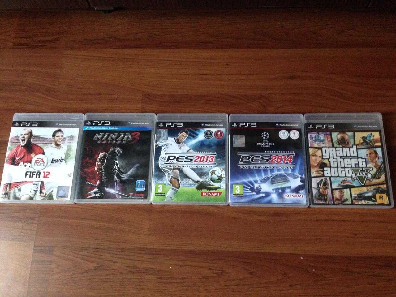 BD PS3 FIFA 12, NINJA GAIDEN 3, PES 2013, PES 2014, GTA V (MURAH + PAKET SUPER HEMAT)