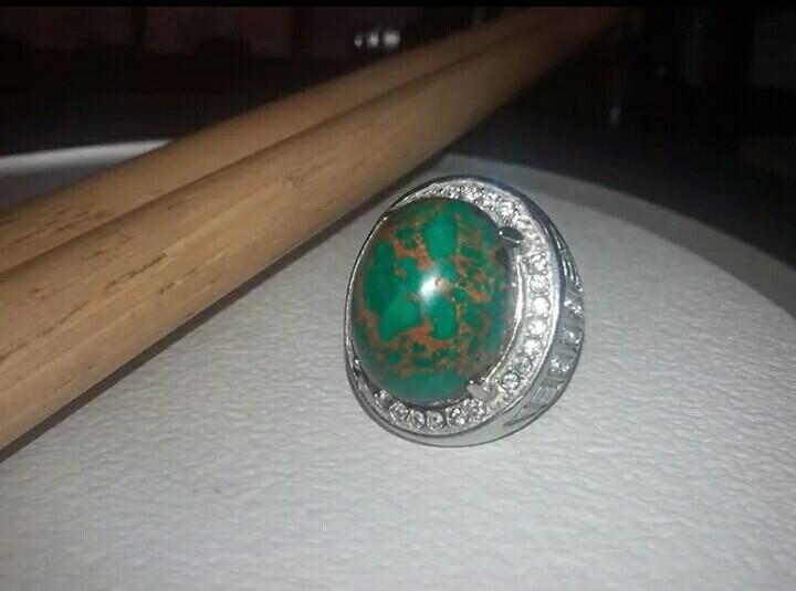 batu cincin pirus langka, king of persia urat emas murah