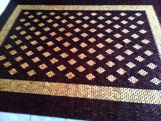 Terjual lampit karpet tikar kayu jati unik etnik