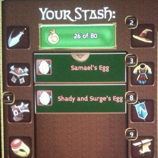 jual shady and surge egg arcane legends